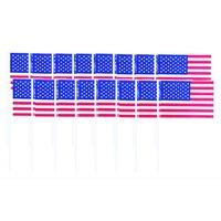 Amerikanska flagg dekorationer - 120 st