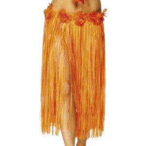 Hawaii-kjol röd och orange