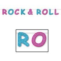 Glittrig rock & roll banderoll