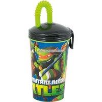 Ninja turtles plastbägare med sugrör