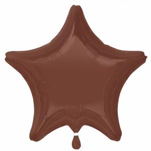 Chockladbrun stjärnformad folieballong 48 cm