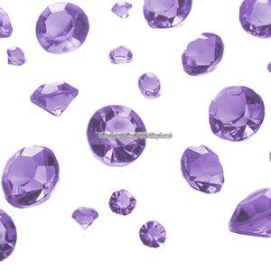 Lila diamantkonfetti - 100g - 100 g