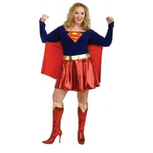 Plus size Supergirl / superwoman maskeraddräkt