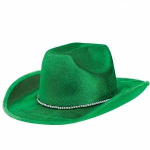 Grön cowboyhatt