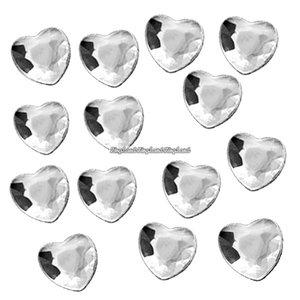 Silverfärgade bordsdiamanter - hjärtan - 21 g