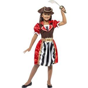 Piratkapten flickor maskeraddräkt