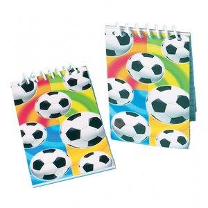 Anteckningsblock med fotbollar - 12 st