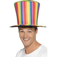 Hög hatt randig