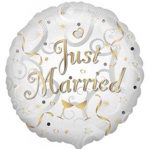 Folieballong - Just Married 45 cm