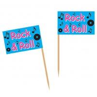 Rock & Roll flaggor tandpetare- 50 st
