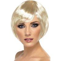 Kort page blond peruk