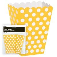 Gula prickiga popcornbägare - 8 st