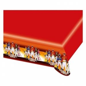 Power Rangers röd bordsduk i plast - 1,2m x 1,8m