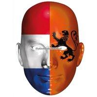 Ansiktsmask holländska flaggan