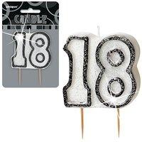 18-års födelsedagsljus - svart