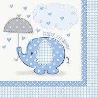Servetter - Baby shower blå 16 st