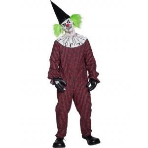 Ond clown maskeraddräkt