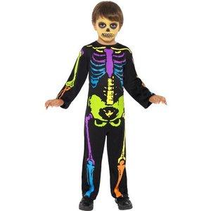 Skelett neon flerfärgat
