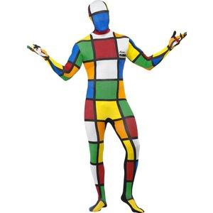 Second skinn-dräkt Rubiks kub maskeraddräkt