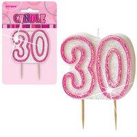 30-års födelsedagsljus - rosa