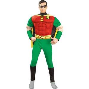 Robin dräkt med bröstmuskler