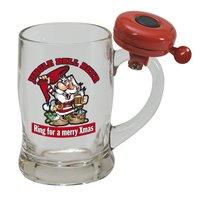 Ölglas med ringklocka - Merry Xmas