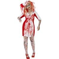 Kurvig zombiesjuksk�terska maskeraddr�kt