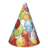 Partyhattar - Happy birthday 8 st