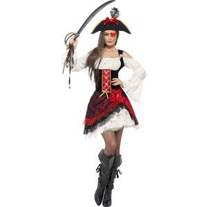 Glamorös Piratfröken maskeraddräkt