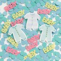 Babykläder konfetti till bord / inbjudningar - 14 g