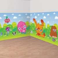 Moshi monster party add-ons till dekorbakgrund - 2 st