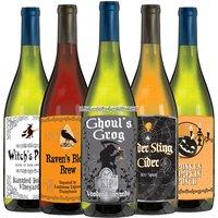 Halloween ettiketter till vinflaska- 5 st