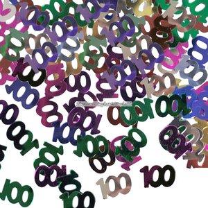 100-års konfetti till bord/inbjudningar - 14 g