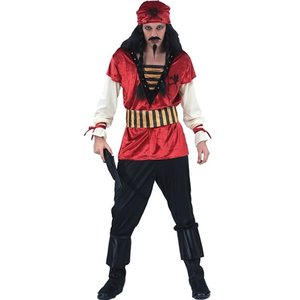 Pirat rött maskeraddräkt