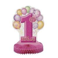 Bordsdekoration - Första Födelsedagen Rosa