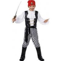 Piratbarn - maskeraddräkt vit & svart