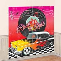 50-tals klassisk bakgrund - väggdekorations Kit