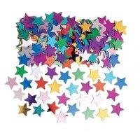 Bordskonfetti flerfärgade stjärnor - 14 g