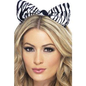Hårband zebra
