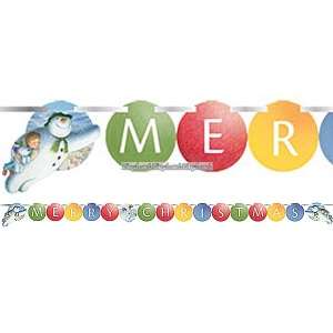 "Textbanderoll ""Meryy Christmas"" - 1,7m"