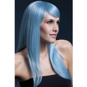 Peruk Sienna lång vågig - blå