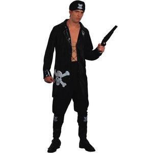 Pirat - maskeraddräkt svart