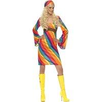 Regnbågs-Hippie maskeraddräkt