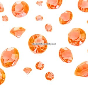 Orange diamantkonfetti - 100g - 100 g
