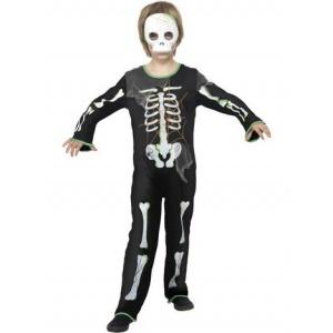Spindel-skelett maskeraddräkt för barn