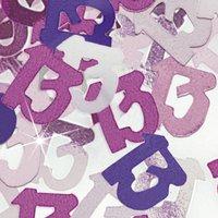 13-års födelsedag rosa bordskonfetti festdekoration - 14g