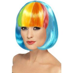 Partyrama peruk Short Bob - neonblå