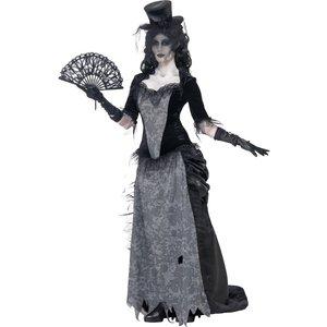 Spökstaden svarta änkan maskeraddräkt