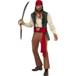 Karribisk berusad pirat maskeraddräkt