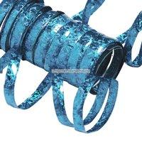 Holografiska ljusblå serpentiner